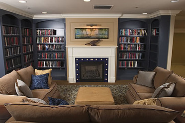 Enjoy a book by the fire at the Catalina Community shared Library