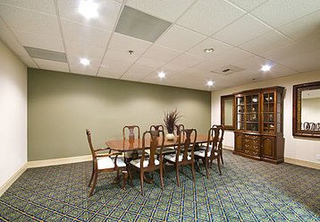 A beautiful dining room is available at Catalina Community